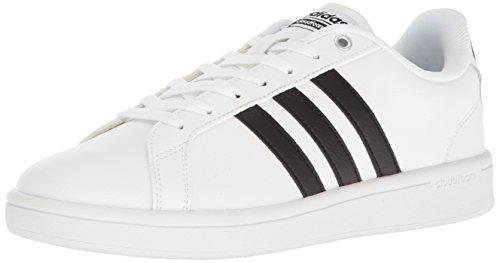 adidas Men's Cloudfoam Advantage Sneakers, White/Black/White, (9 M US)