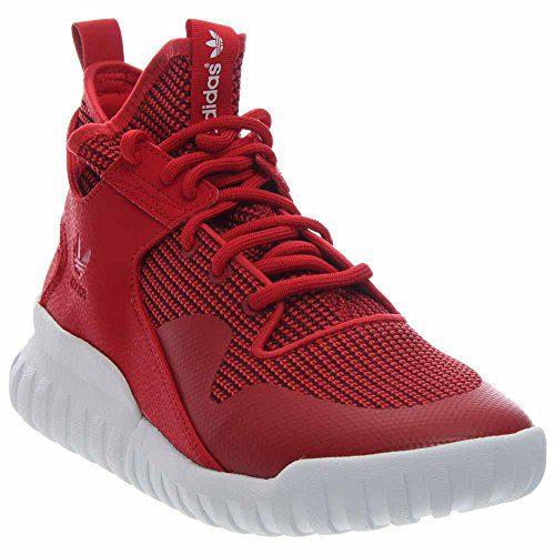 adidas Mens Tubular X Red/White Leather Size 10