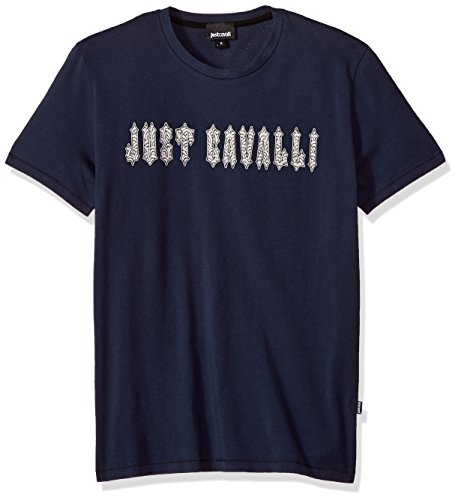 Just Cavalli Men's Signature Tee, Nine Iron, M