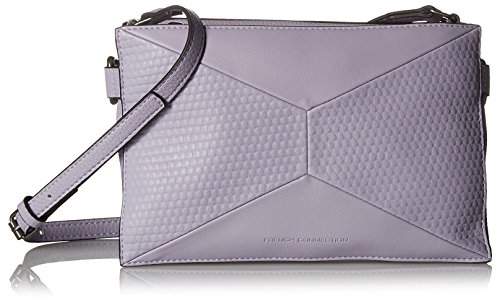 French Connection Women's Shane Triple Compartment Crossbody, Swan Lake
