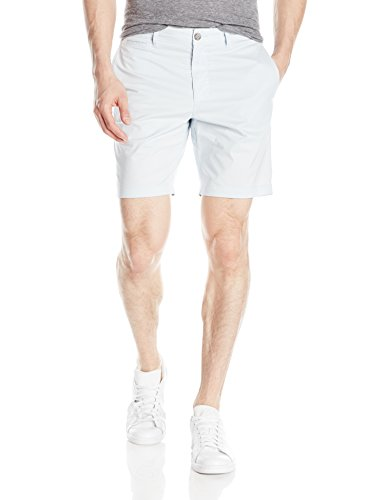 Original Penguin Men's P55 8 inch Basic Short with Stretch Slim, Ballad Blue, 32