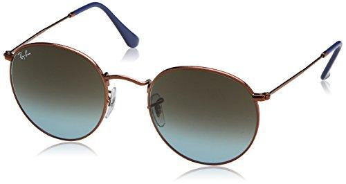 Ray-Ban Metal Round Sunglasses, Shiny Dark Bronze, 53 mm