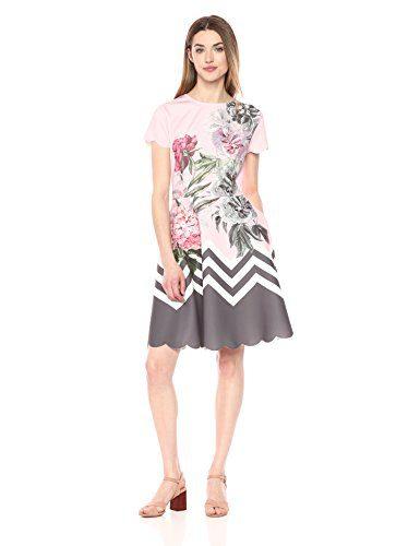 Ted Baker Women's Haiilie Dress, Dusky Pink, 4
