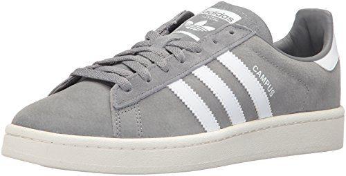 adidas Originals Men's Campus Sneakers, Grey Three/White/Chalk White, (9 M US)