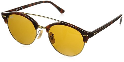 Ray-Ban Clubround Double Bridge Sunglasses Tortoise/Brown Plastic
