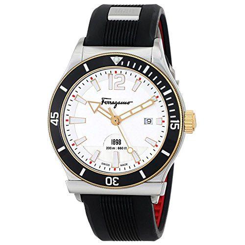 Salvatore Ferragamo Men's SPORT Analog DisplaySwiss Quartz Black Watch