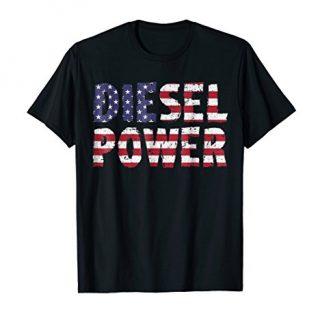 American Diesel Power TShirt Vintage Truck Driver TShirt