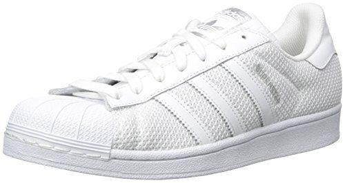 adidas Originals Men's Superstar Fashion Sneaker, White/White/White, 10.5 M US