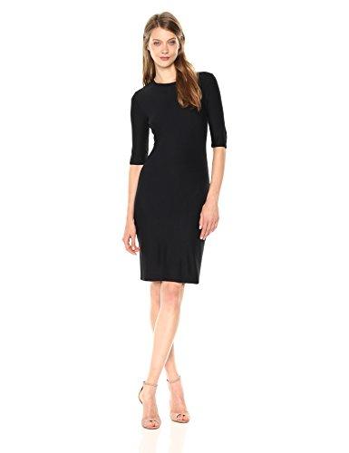A X Armani Exchange Women's Fitted Interlock Dress, Black, M