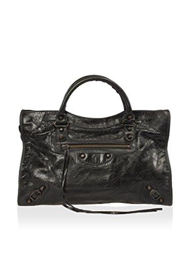 Balenciaga Women's Classic City Lambskin Bag, Black, One Size
