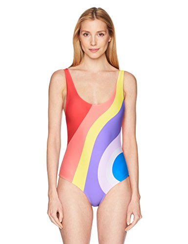 Mara Hoffman Women's Mia One Piece Swimsuit, Juniper Rainbow/Multi, Small