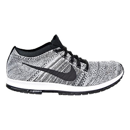 NIKE Flyknit Streak Unisex Running Shoes Black/Black-Wolf Grey-White (8 D(M) US)