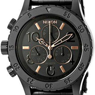 Nixon Women's Chrono Analog Display Japanese Quartz Black Watch