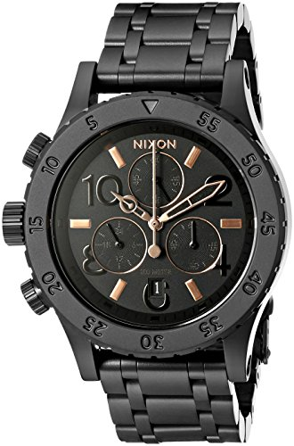 Nixon Women's Chrono Analog Display Japanese Quartz Black Watch