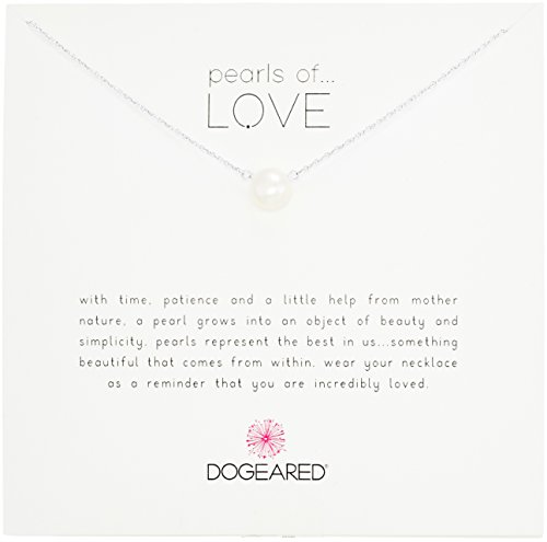Dogeared Pearls of Love Sterling Silver and Pearl Necklace, 18""