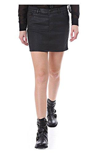 Diesel Mode NE Jogg Jean Waxed Effect Skirt (31, Black/Denim)