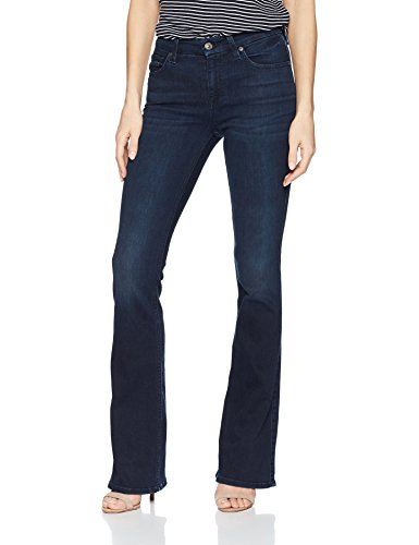 7 For All Mankind Women's a-Pocket Flare, Blue/Black Santorini, 27