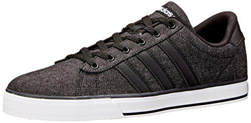 adidas Neo Men's SE Daily Vulc Lifestyle Skateboarding Shoe,Black/Black/White,12 M US