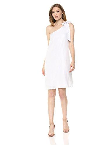 A|X Armani Exchange Women's One Shoulder Party Dress, Silver, 4