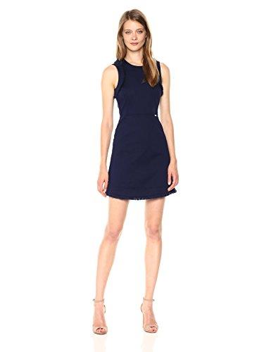 A|X Armani Exchange Women's Stretch Cotton Dobby Dress, Evening Blue, 2