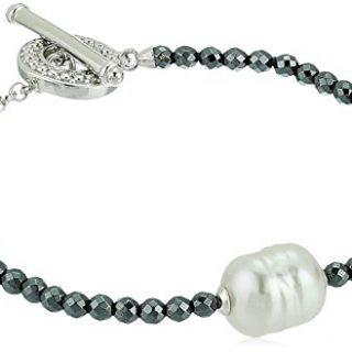 Majorica 8,10,12MM Round Baroque Pearl Hematite Bracelet