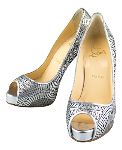 CHRISTIAN LOUBOUTIN Suellena 120 Open Toe Pumps Heels Shoes 5 US 35 EU