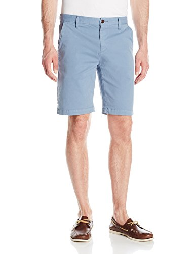 PAIGE Men's Thomspon Flat Front Chino Short, Blue Skyline, 36