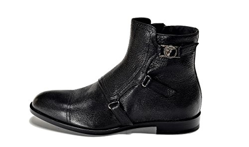 Versace Collection Men's Leather Ankle Boot Black US 11 IT 44
