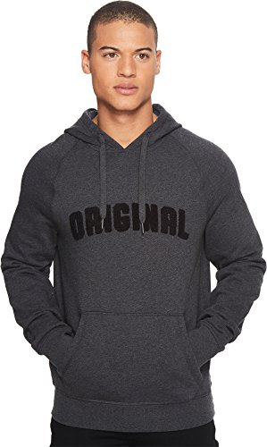 Original Penguin Men's Long Sleeve Boucle Hoodie, True Black, Medium