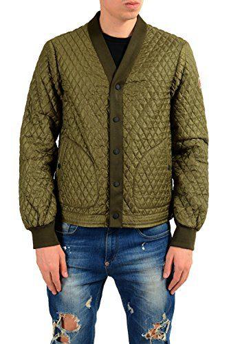 Moncler Men's ORRES Olive Green Quilted Windbreaker Jacket Sz 3 US M