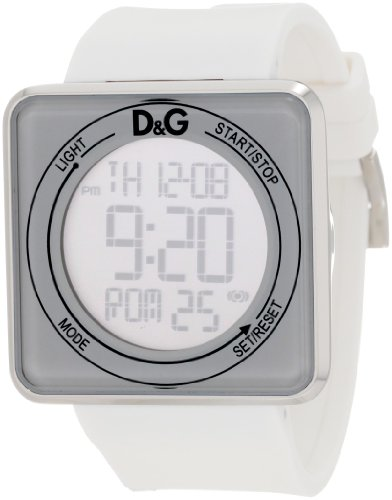 D&G Dolce & Gabbana Women's High Contact White Dial & Strap Touch Screen Watch