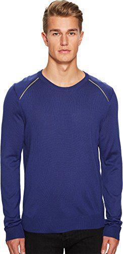 Just Cavalli Men's Zipper Detail Sweater Spectrum Blue Sweater