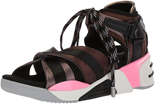 Marc Jacobs Women's Somewhere Sport Sandal, Black/Multi, 38 M EU (8 US)