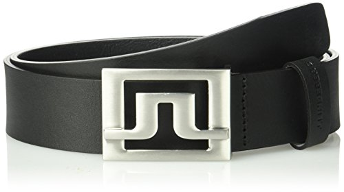 J.lindeberg Men's Slater Pro Leather Belt, black, 105