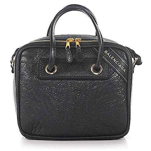 BALENCIAGA Arena Leather Blanket Small Square Bag Black Authentic Italy New