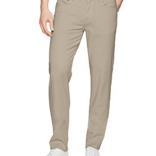 Joe's Jeans Men's Kinetic Twill Brixton Straight and Narrow Jean in Stevenson Colors, New Ecru, 33