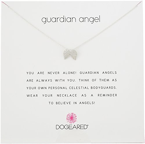 "Dogeared Reminders Guardian Angel Sterling Silver Angel Wings Charm Necklace, 16""+2"" Extender"