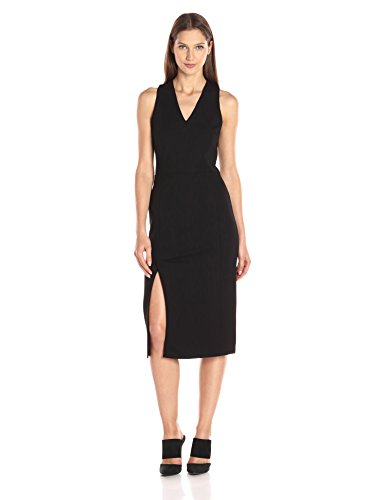 A|X Armani Exchange Women's Pique Sleeveless Midi Dress, Black, Small
