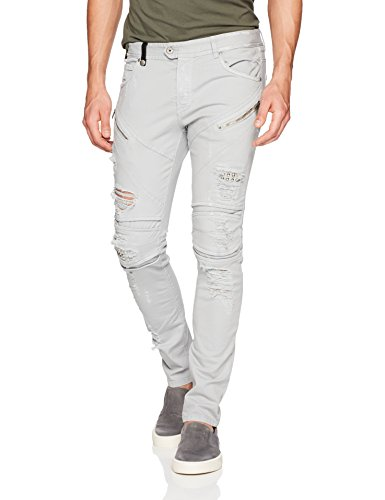 Just Cavalli Men's Denim, Heather Grey, 30
