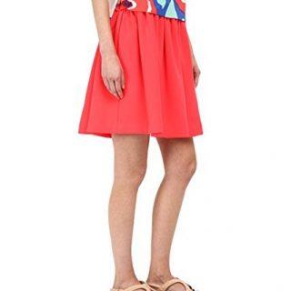 Kate Spade New York Women's Crepe Skirt Geranium Size Small