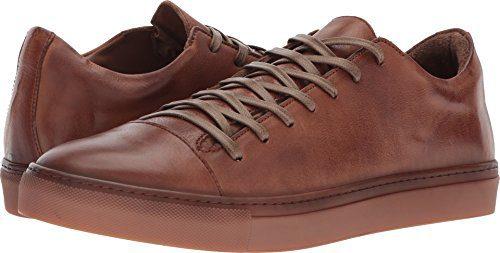 John Varvatos Men's Reed Low Top Sneaker Clay Brown 8 D US