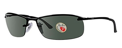 Ray-Ban Men's Sunglasses (Shiny Black Frame Polarized Solid Black Lens, Shiny Black Frame Polarized Solid Black Lens)