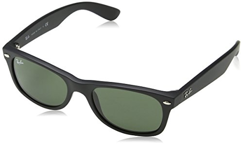 Ray-Ban New Wayfarer Sunglasses, Black (622), 52 mm
