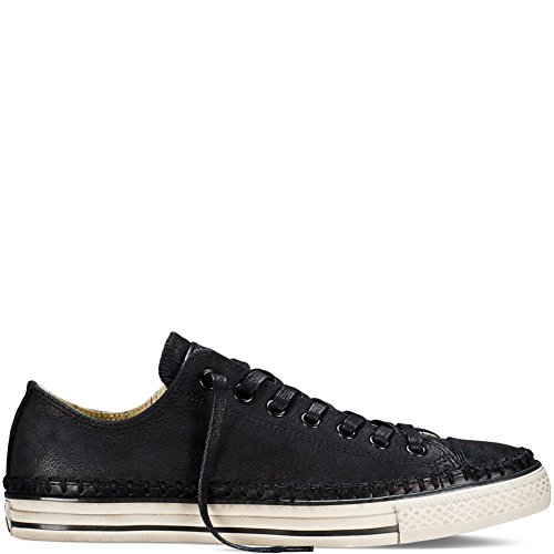 Converse by John Varvatos Unisex Chuck Taylor All Star - Artisan Stitch Black/Turtledove/Beluga Men's 3, Women's 5 Medium