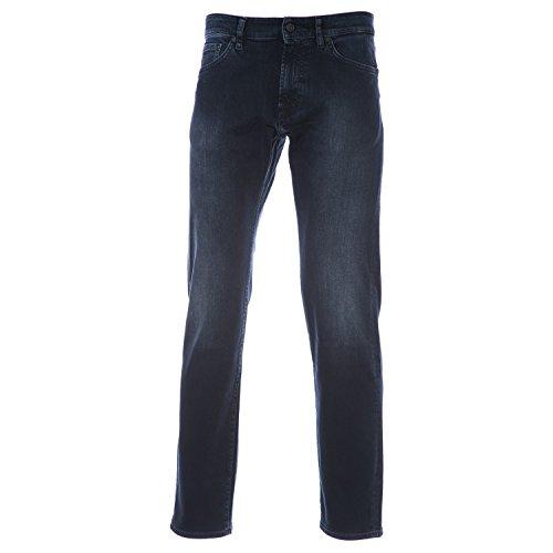 BOSS Maine Jean in Black Overdye Blue 32R