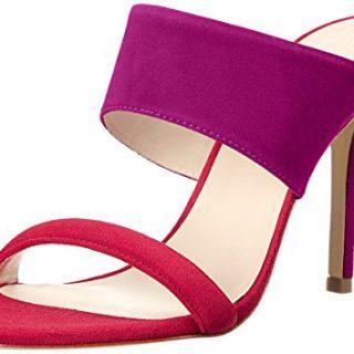 Trina Turk Women's Larabee Dress Sandal, Loganberry/Lipstick Suede, 8 M US