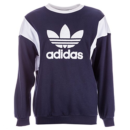 adidas Originals Women's Trefoil Crew Sweatshirt Legend Ink 12 Blue