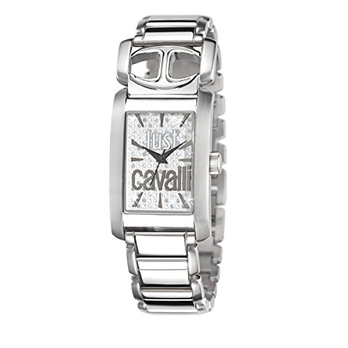 Just Cavalli 25mm Silver Steel Bracelet & Case Mineral Women's Watch