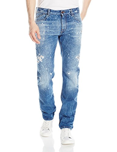 Just Cavalli Men's Super Destroyed Denim Jeans, 470 Blue Denim, 40