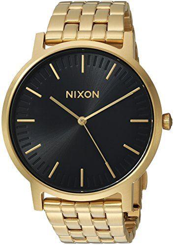 Nixon Men's 'Porter' Quartz Stainless Steel Casual Watch, Color Gold-Toned